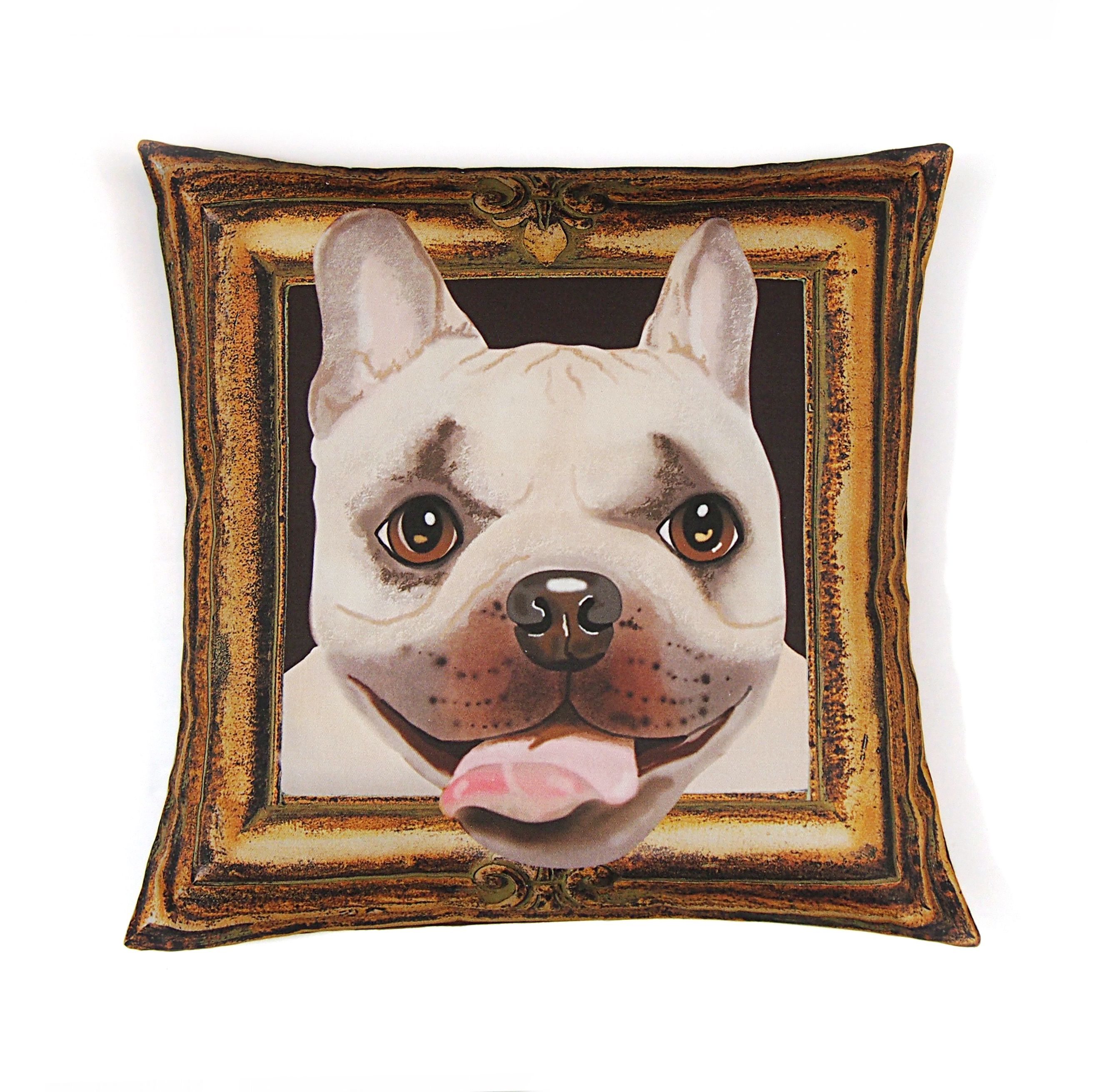 French Bulldog Pillow Cover Adorable Little Fawn And Brown Frenchie