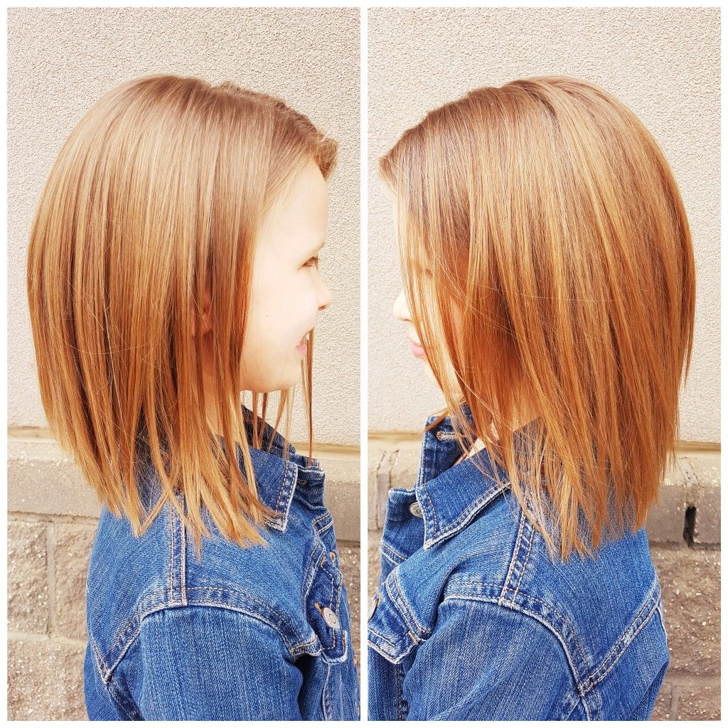 Girl S Shoulder Length Haircut Girl Haircut Girl Haircuts Girls Haircuts Medium
