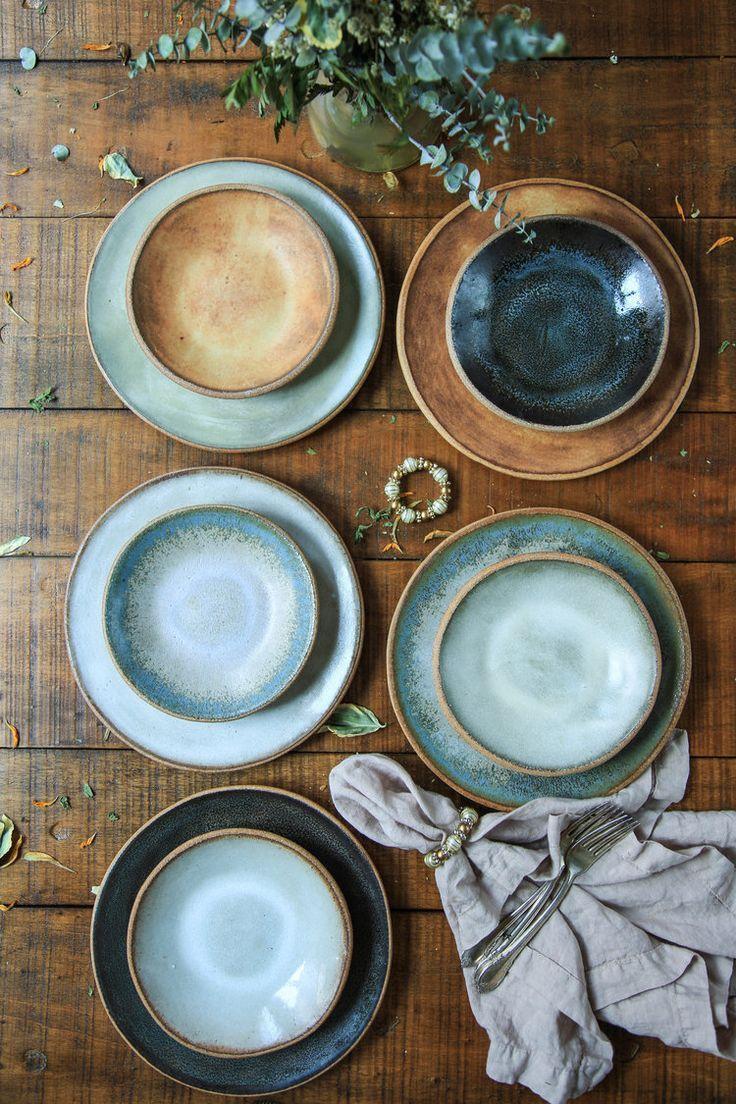 Sierra Line 9 Salad Plate — MMclay - Handmade Pottery & Ceramics by MaryMar Keenan