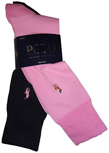 0e0ed6e06b7 Polo by  Ralph Lauren  Mens  Socks Pink and Navy (pack of 2)