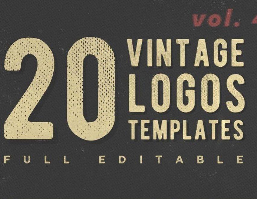 20 Free Vintage Logo Templates In 2020 Logo Templates Retro Logos Vintage Logo