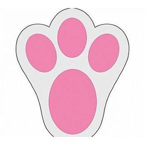 Easter Bunny Footprint Stencils Clipart Free Clipart