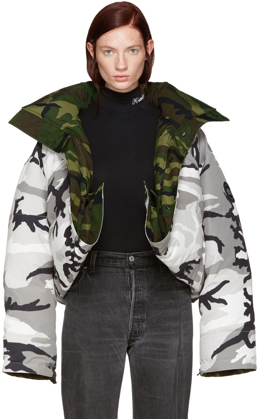 fc1dd4842fa4 Vetements - Reversible Grey Camouflage Canada Goose Edition Parka ...