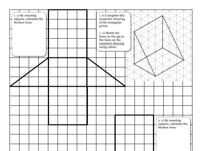 Preview of Surface Area of Triangular Prisms