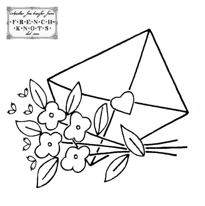 Valentine Love Letter Embroidery Transfer Pattern | Stitchery ...