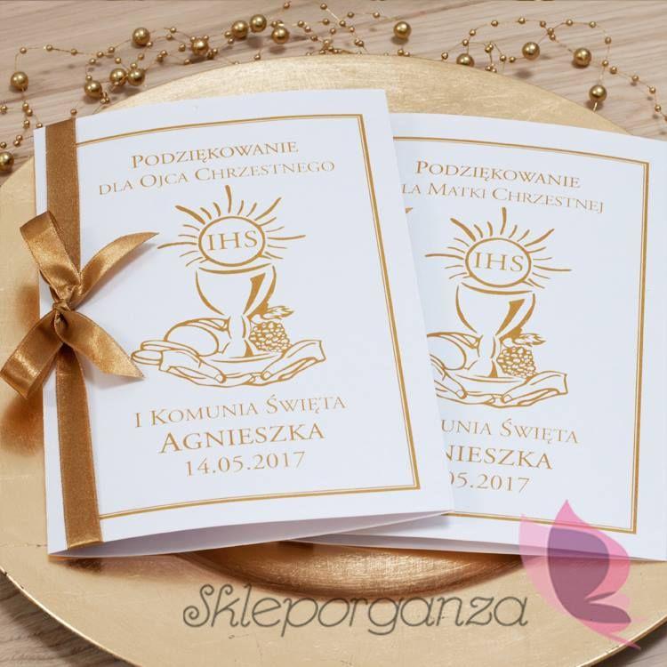 Podziękowanie Dla Rodziców Chrzestnych Place Card Holders