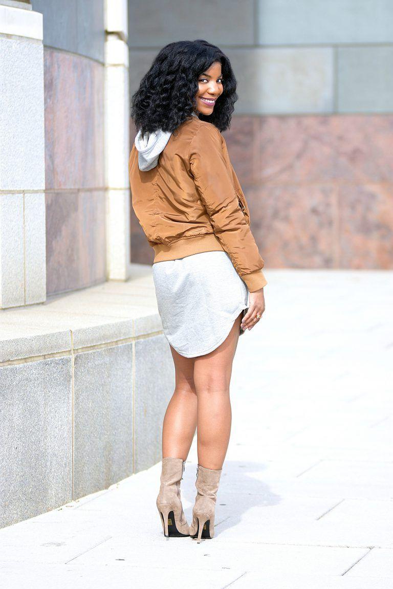 6f5372700a3c Romwe Grey Sweatshirt Dress