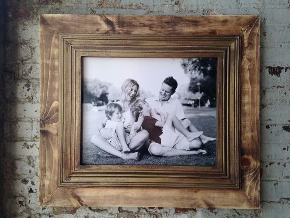Rustic Distressed Frame Raw Wood Open Back Frame for Portrait or ...