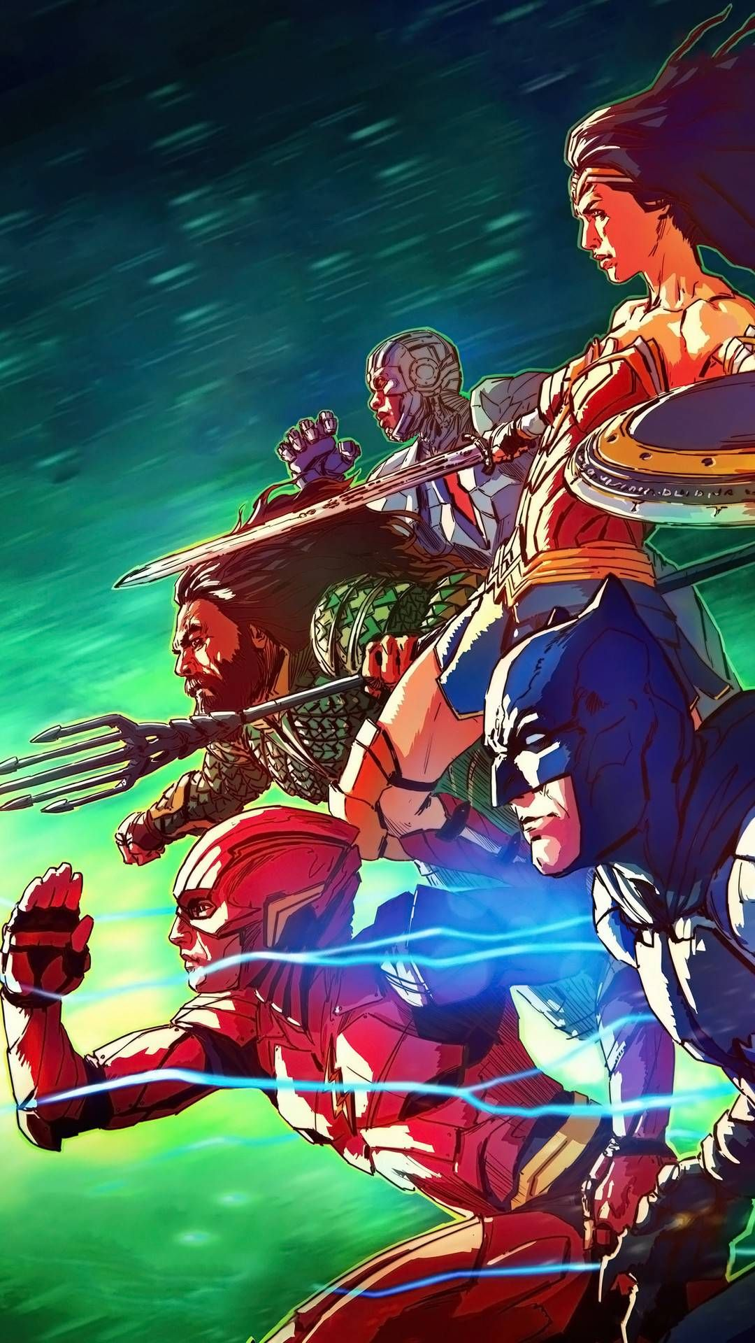 Justice League Art Iphone Wallpaper Superhero Wallpaper Justice League Art Justice League