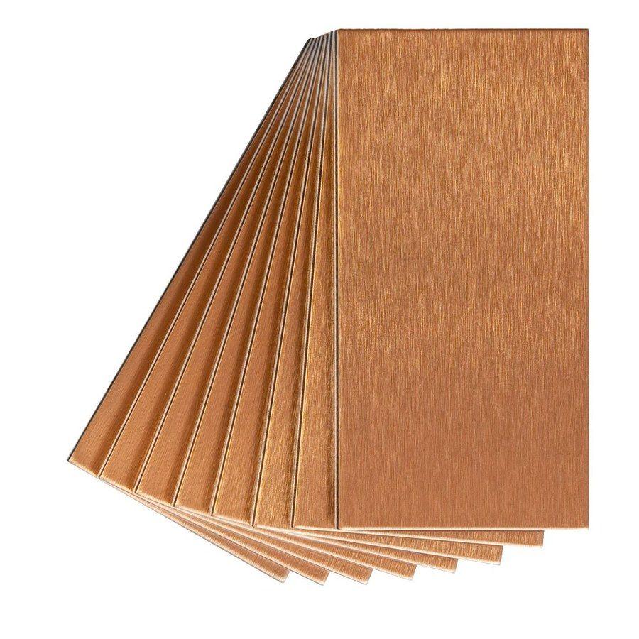 Aspect Metal 3in x 6in Copper Metal Multipurpose