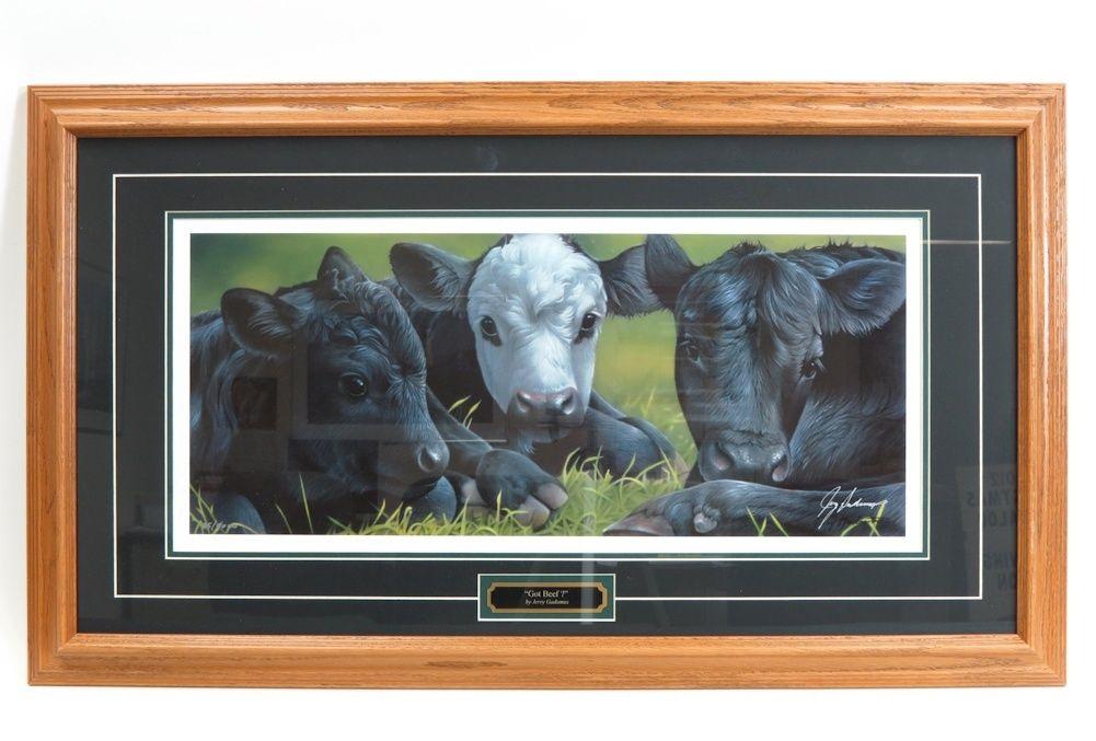 `Got Beef?` 35 x 20 Framed Print by Jerry Gadamus