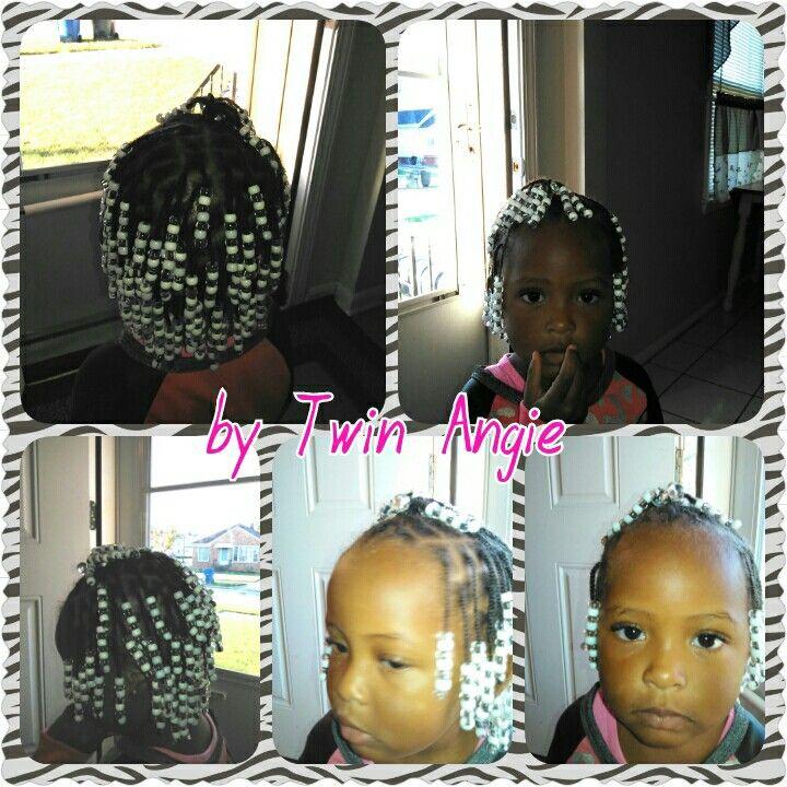 Single braids with beads