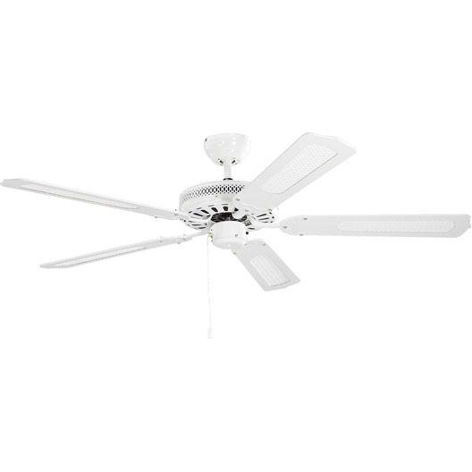 Ventilateur De Plafond Baleares Inspire Blanc Blanc Canne Ventilateur Plafond Plafond Ventilateur