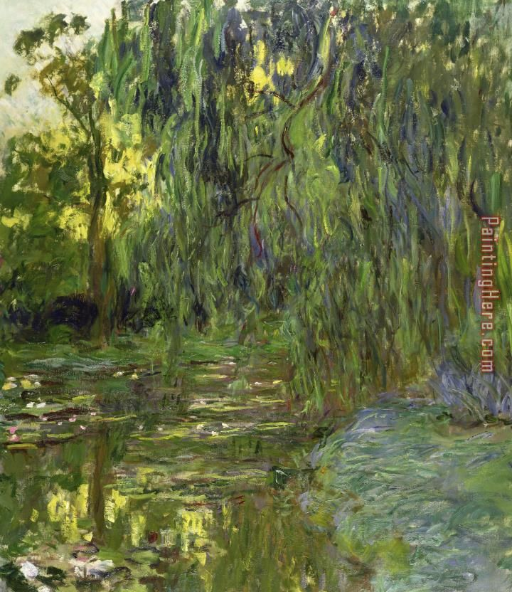 Claude weeping willows the waterlily pond at giverny