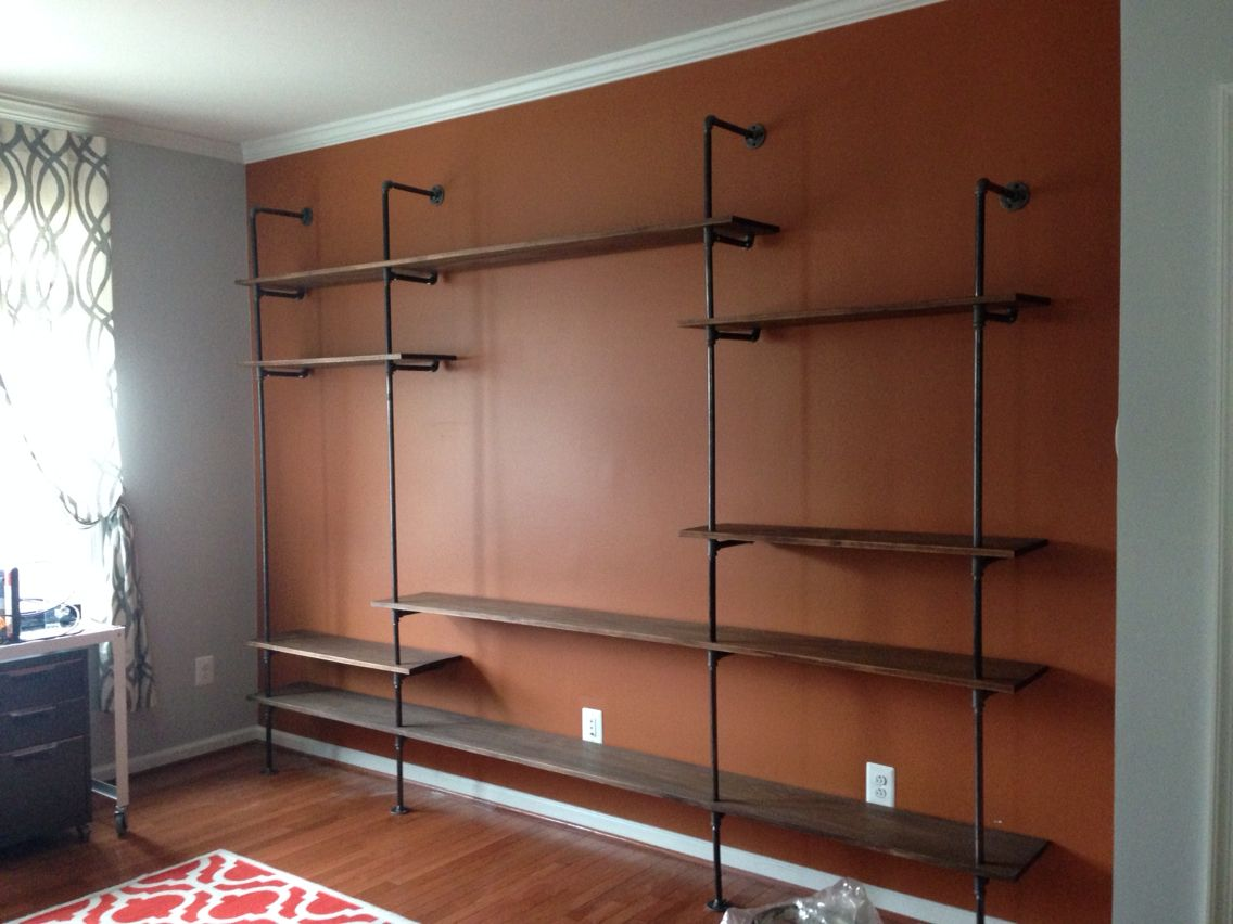 Custom Designed Industrial Style Pipe Shelving For