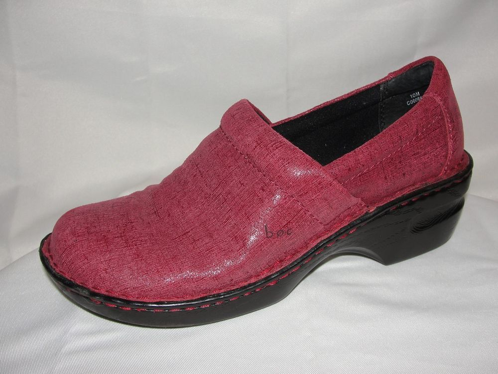 82e48682fba3 b.o.c. BORN CONCEPT Shoes Women s Sz 10M Burgundy Rust Leather Clogs Closed  Back  Brn  Clogs