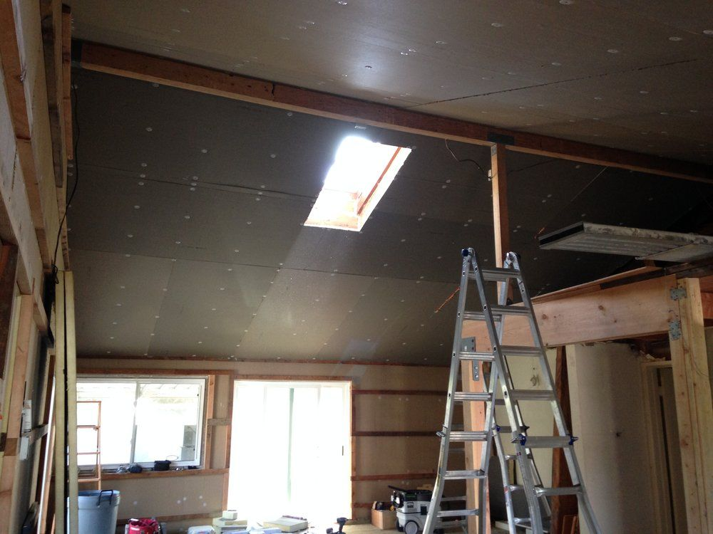 How We Turned Our House Into A Giant Foam Box Part Ii Ceiling Insulation Frugal Happy In 2020 Ceiling Insulation Insulation Ceiling