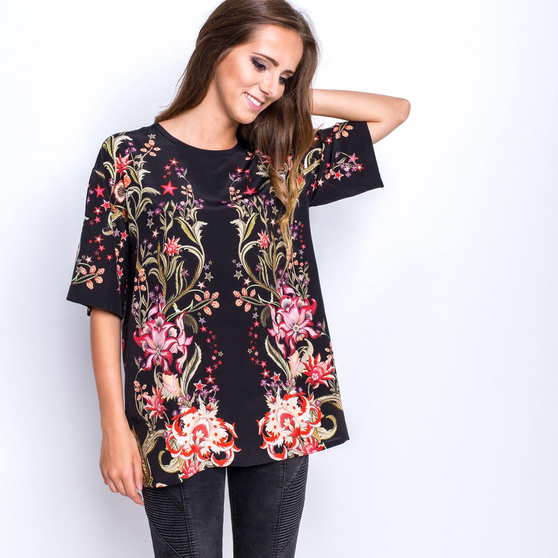 Koszula Dluga Bluzki Na Lato Damskie 2015 Koszula Czarna Damska Modne Bluzki Damskie 2014 Tanie Bluzki Damskie Xxl Fashion Floral Tops Tunic Tops