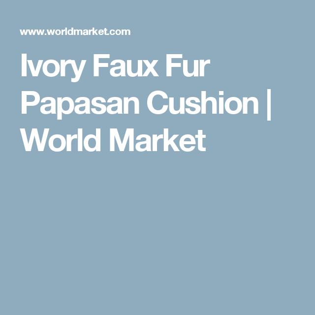 Ivory Faux Fur Papasan Cushion | World Market