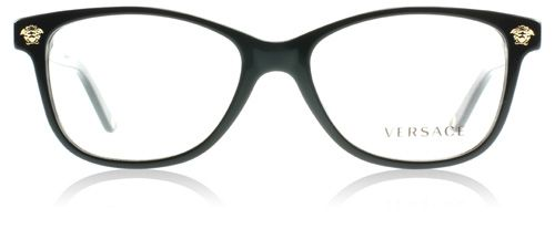 915b478db187 Glasses Jillian Harris wore on Love It or List It, Too. Versace Glasses  3153 Black 945 : Designer Glasses : MyOptique
