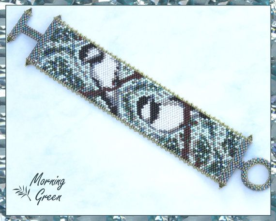 My Little Chickadees Peyote Bracelet  Peyote by Morningreen