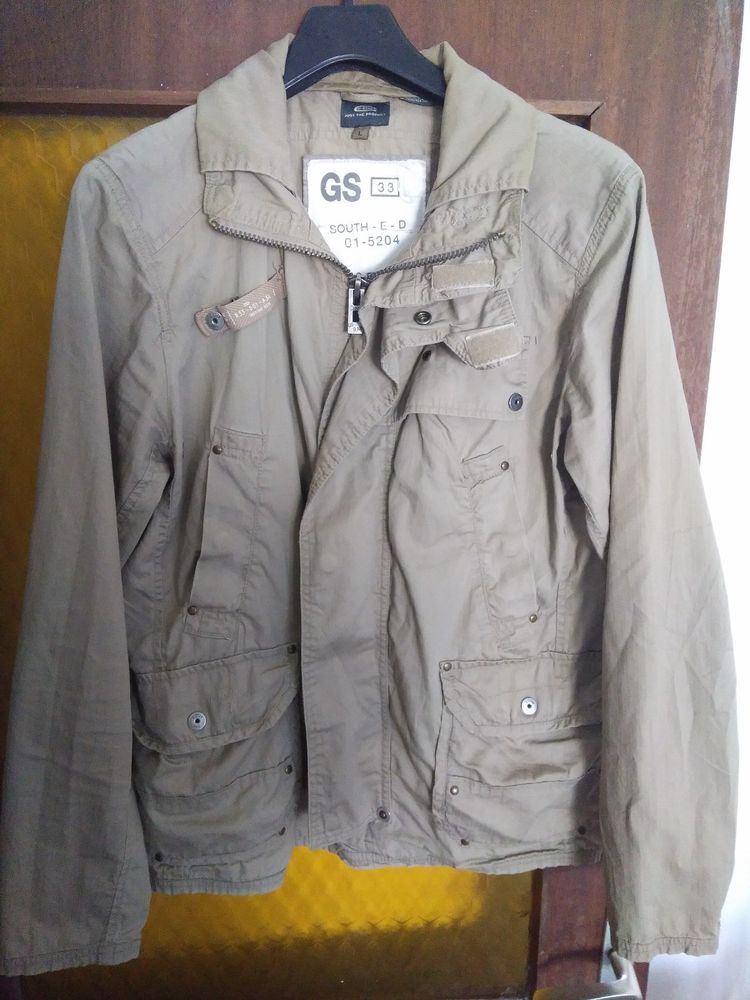 G Star Raw Gs33 Male Jacket Giacca Jacke Chaqueta Size L Brown Color Jackets G Star G Star Raw