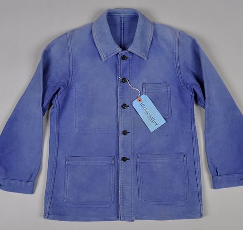 French Blue indigo Work Jacket 60's UAfI9G