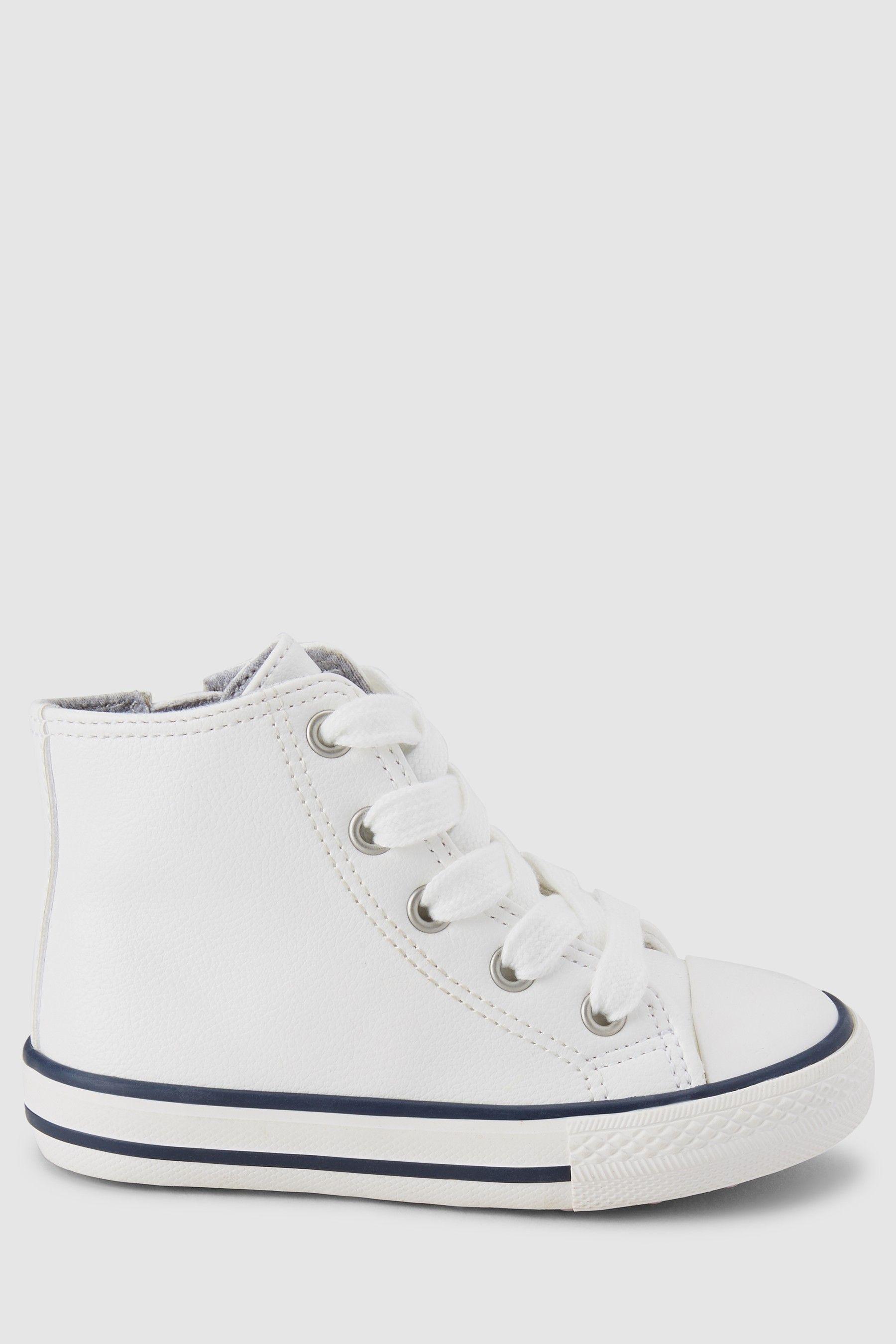next girls white trainers