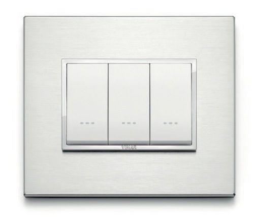 Push-button switch / double / anodized aluminum