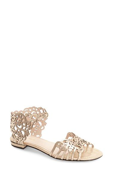 Free shipping and returns on Klub Nico 'Juene' Laser Cut Flat Sandal (Women