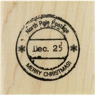 Paper Inspirations North Pole Postage Rubber Stamp