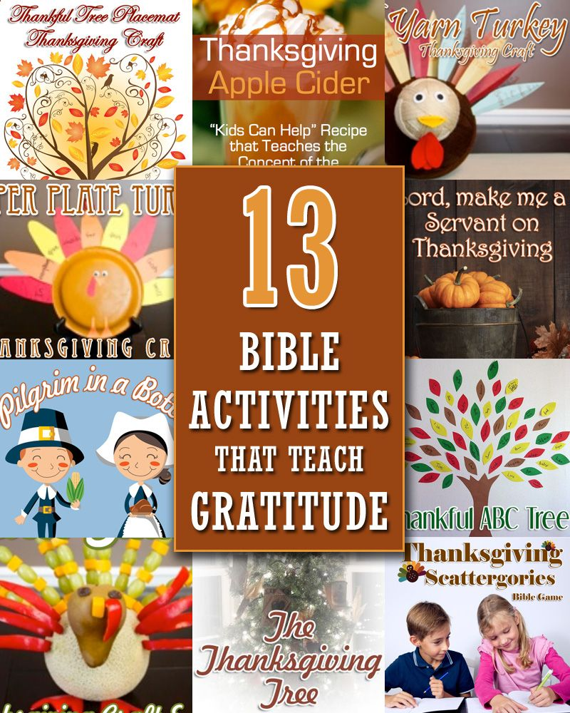 Are you looking for Bible activities to teach gratitude