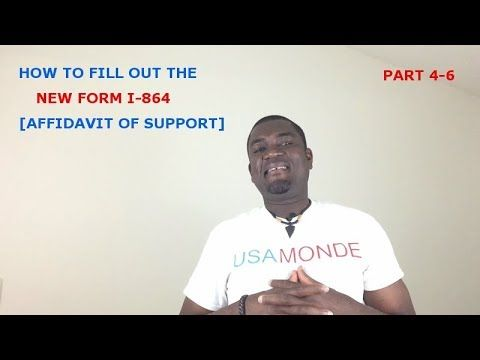 How To Fill Out The New Form I 864 Affidavit Of Support Part 4 6