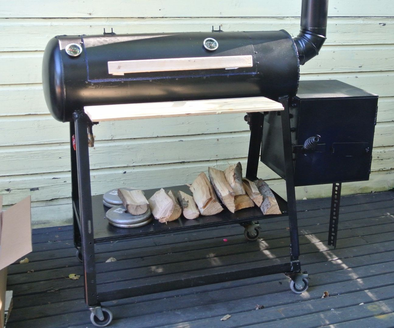 How to Build a Reverse Flow Offset Smoker | Emergency