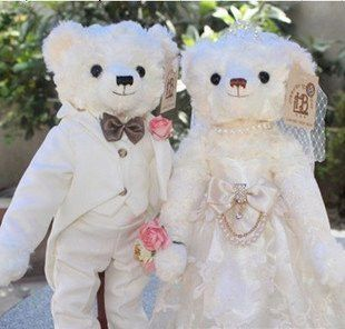Couple Dolls Wedding Gift Teddy Bear Plush Toy