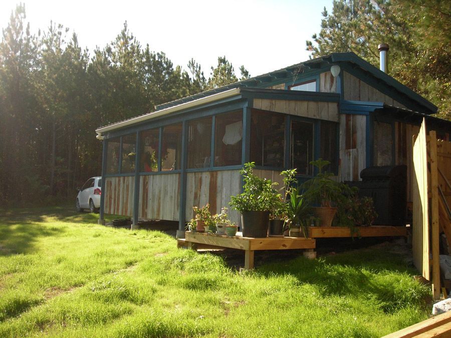 peachy mobile home deck ideas. images of off the grid homes  Off tiny house with screened in back