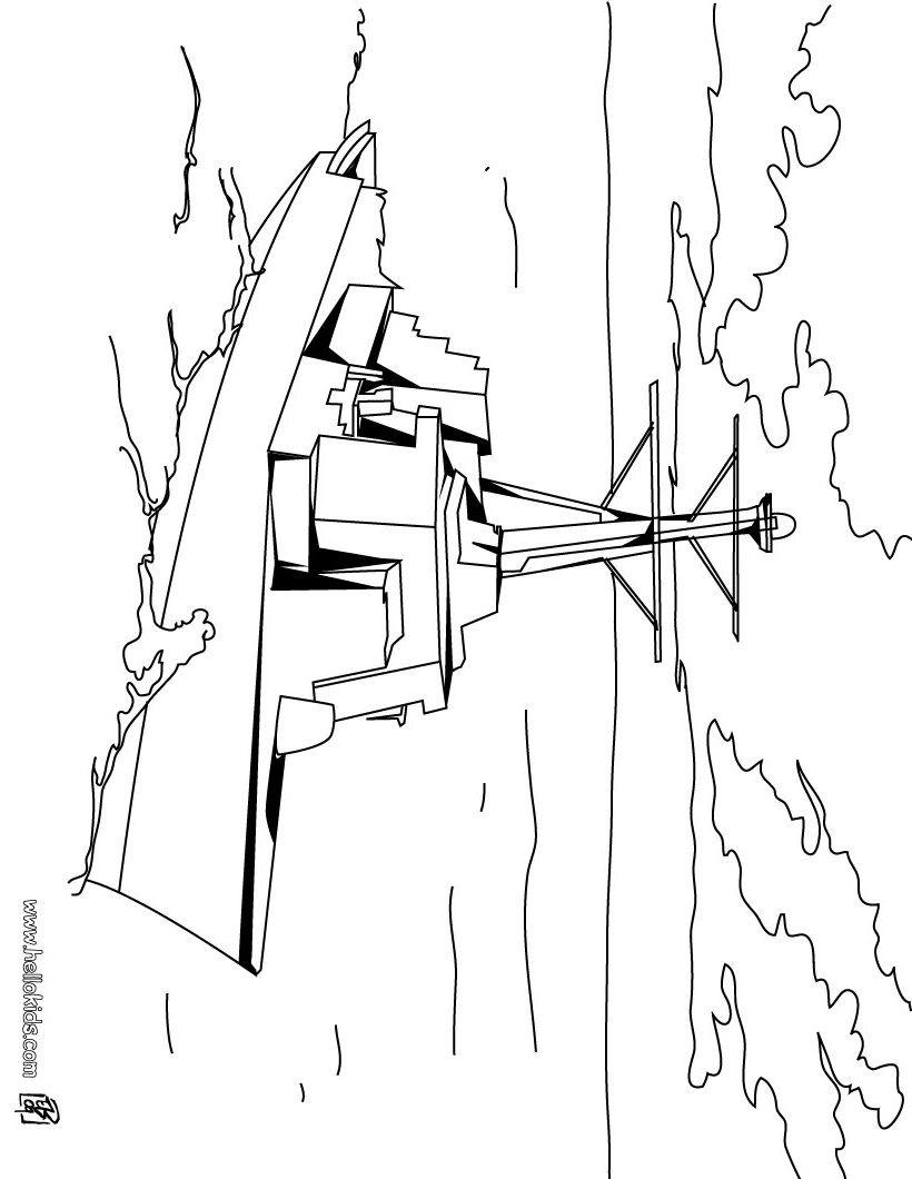 Frigate coloring page | Elijah | Pinterest