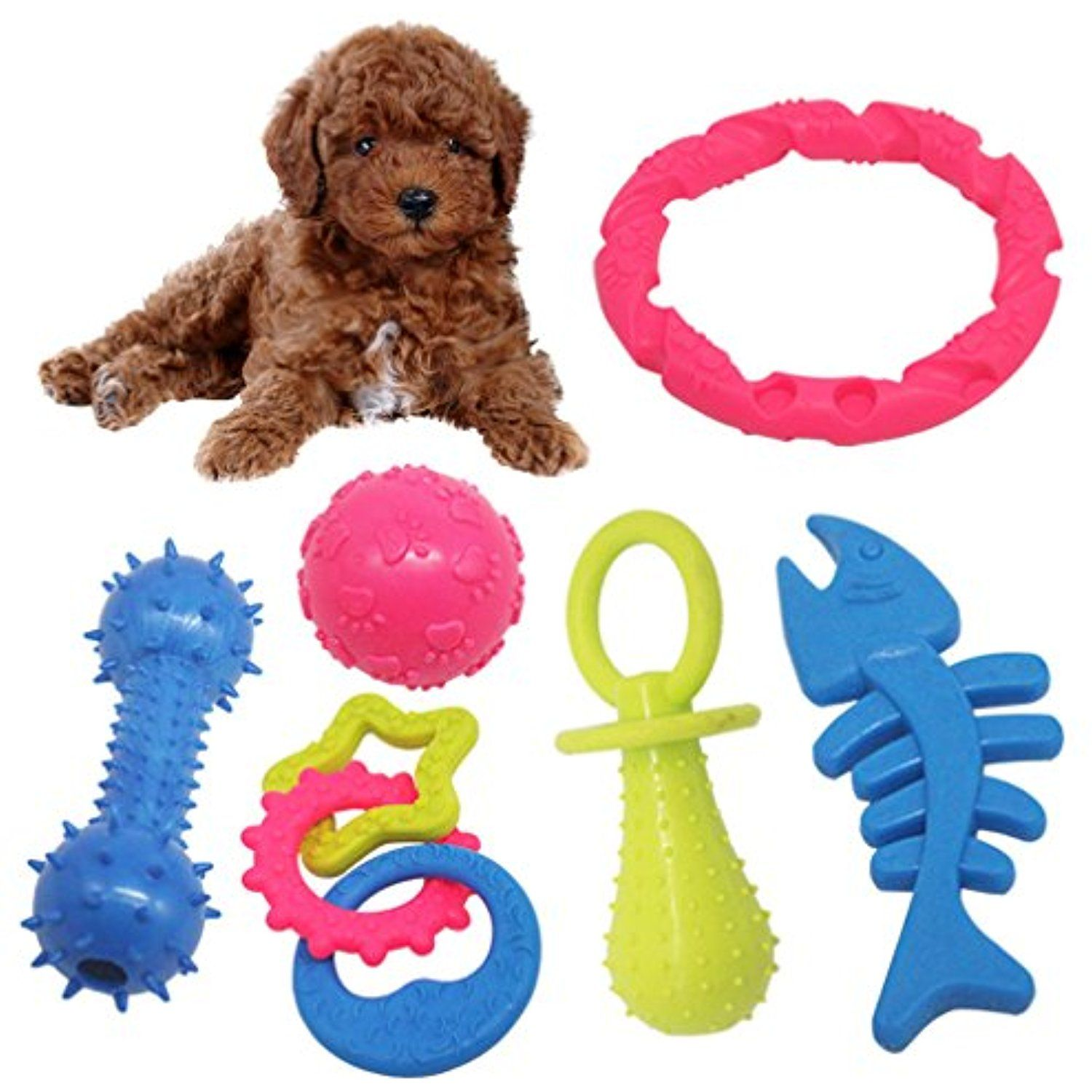 Michley Puppy Dog Chew Toys 6 Pack Durable Dog Teething Toys