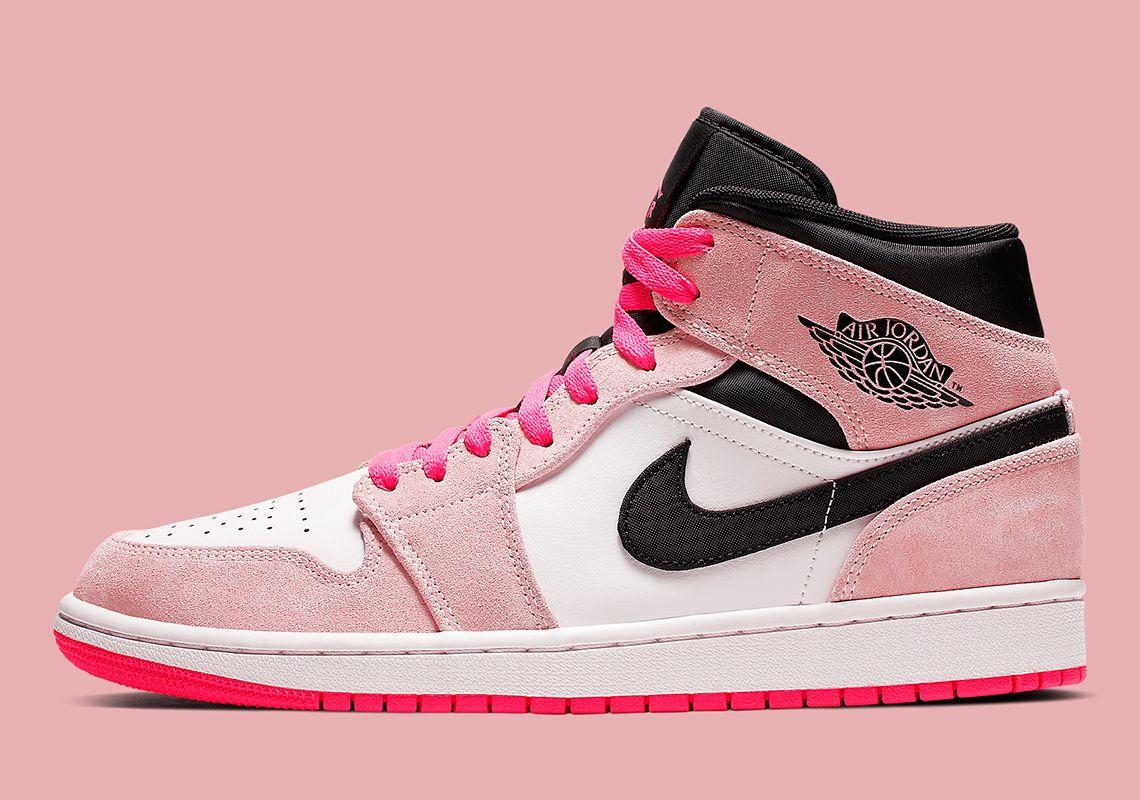 5fca3591962 Air Jordan 1 Mid Dressed In Flashy Pink Hues Jordan Brand is no stranger to  some