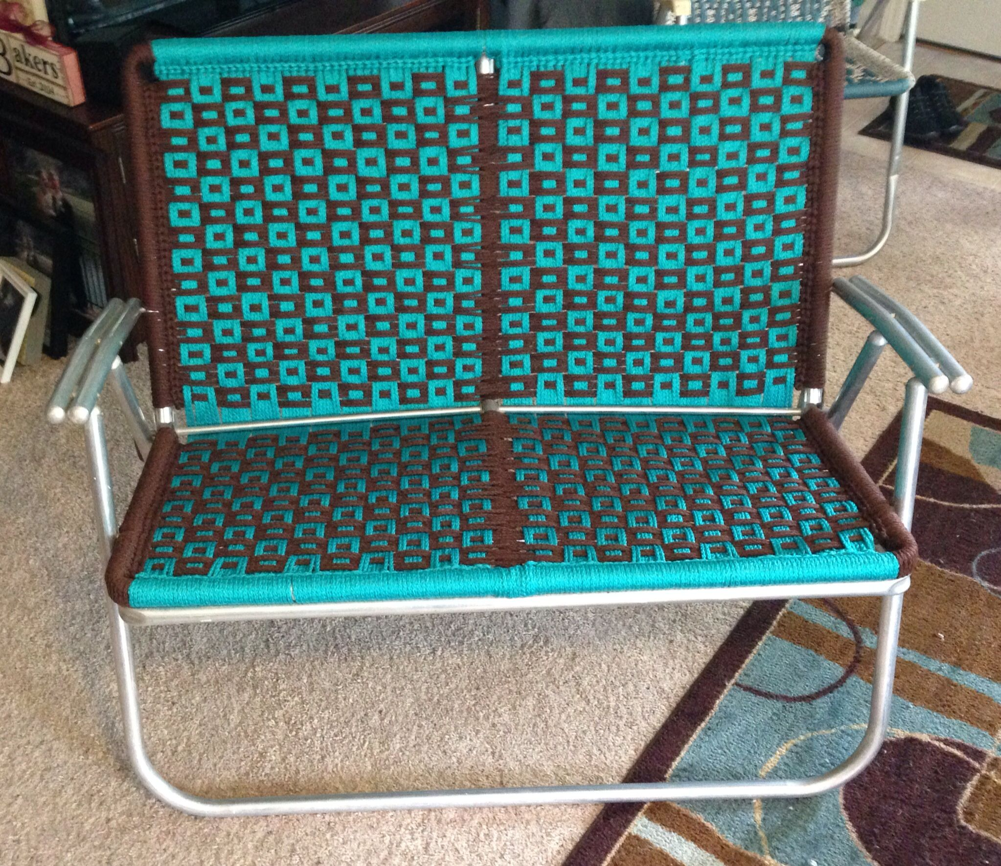 Woven Lawn Chair Macrame Loveseat Lawn Chair Projects Completed Macrame