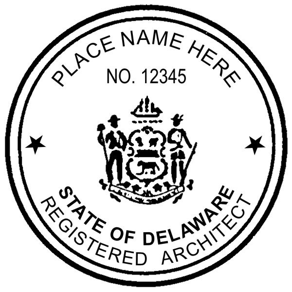 #Delaware #Architects Can Use An Embossing Seal Or Stamp. The Seal Diameter  Is