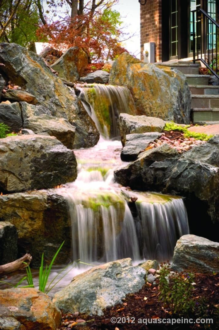 place a waterfall at the front of the home for optimal curb appeal