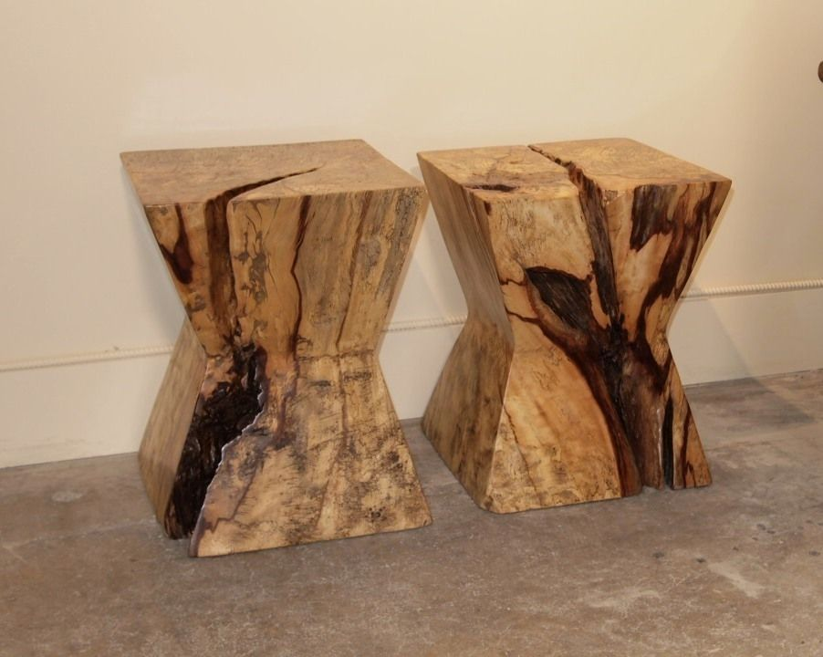 Modern Slab Stools Side Table Gado Gado Wood In 2019
