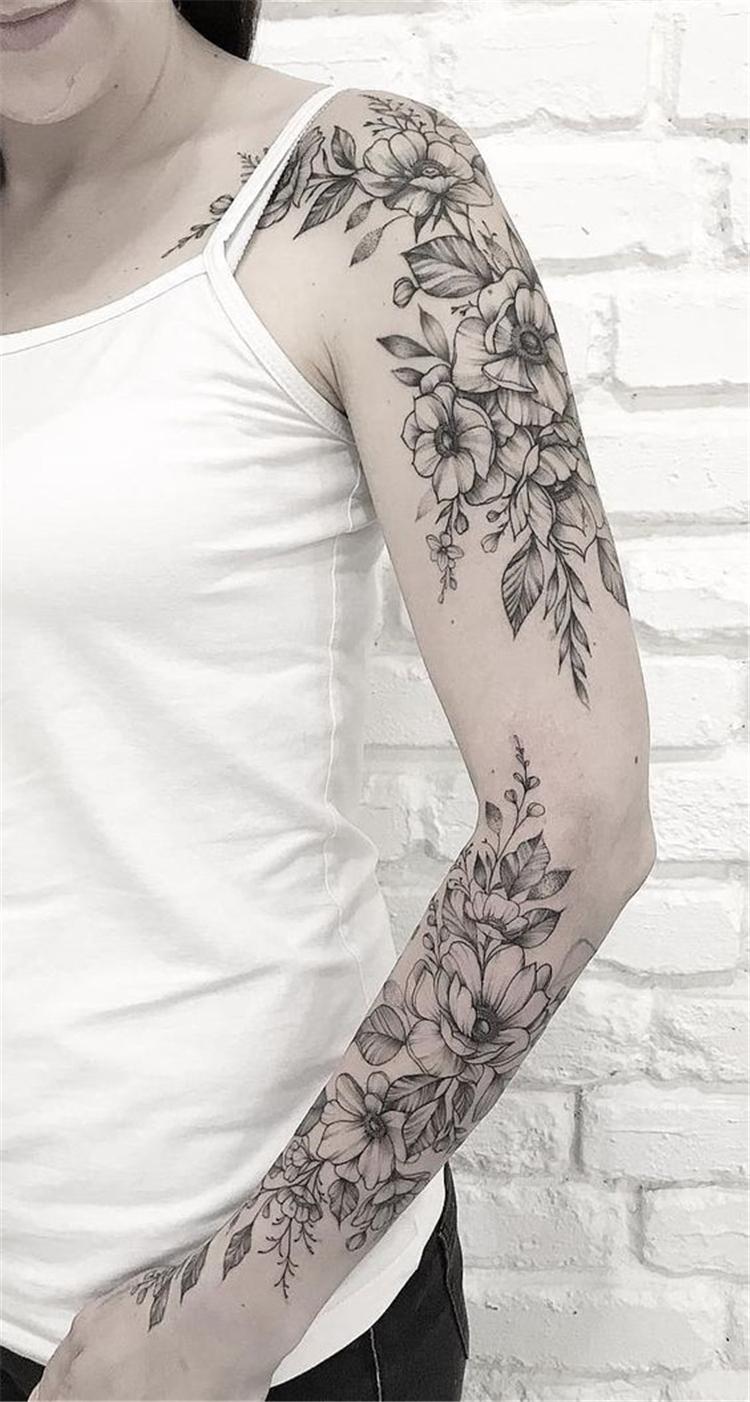 , 45 Gorgeous And Stunning Sleeve Floral Tattoo To Make You Stylish – Women Fashion Lifestyle Blog Shinecoco.com, My Tattoo Blog 2020, My Tattoo Blog 2020
