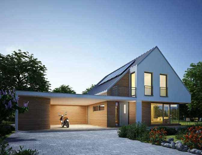 Carport Haus, Haus bauen