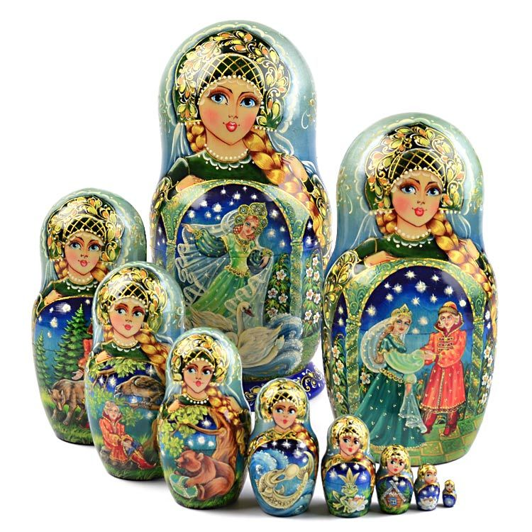 Collectible Fairy Tale Stacking Doll $1,239.99 www.therussianstore.com