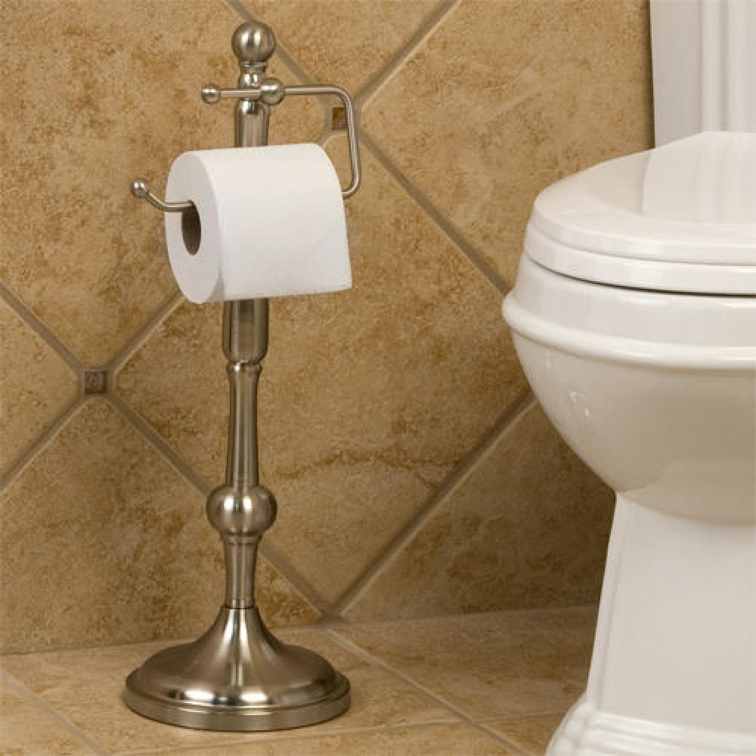 Paper Holder Stand Ridge Shape Standing Tissue Holder Hao Noodle Toilet