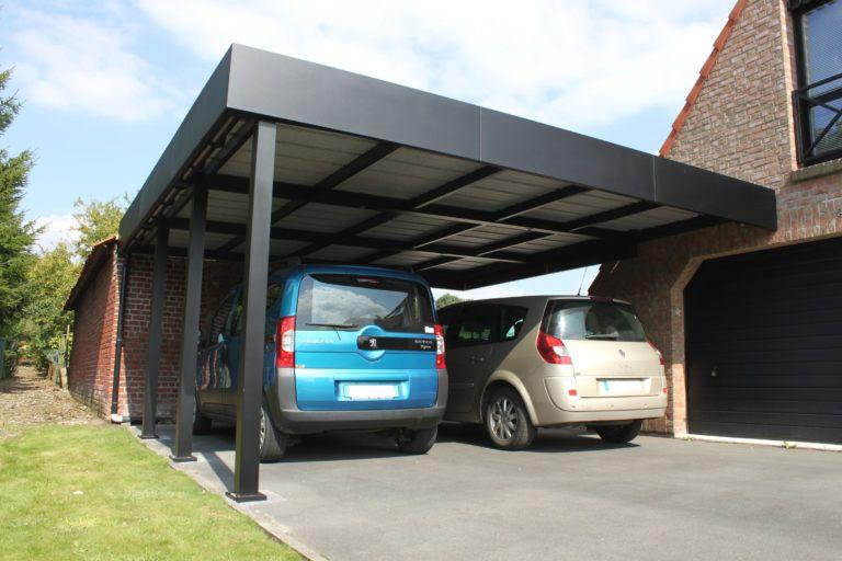 Carport 2 Voitures Toit Plat Avec Voiture Archives Carport Idees Et Carport Aluminium Cysoing Nord Abri Voiture Abri Voiture Carport Aluminium Dessins Carport