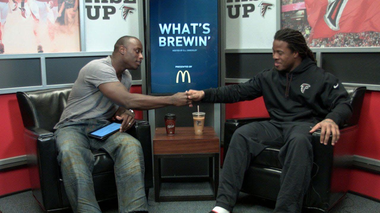 What S Brewin Devonta Freeman Devonta Freeman Talk Show Scenes