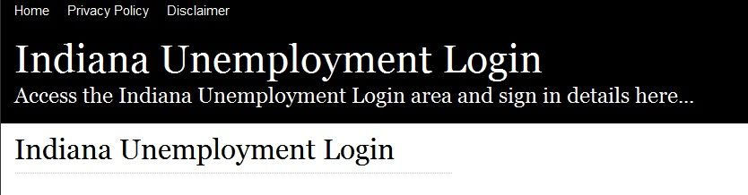 Unemployment Customer Service Phone Number Indiana